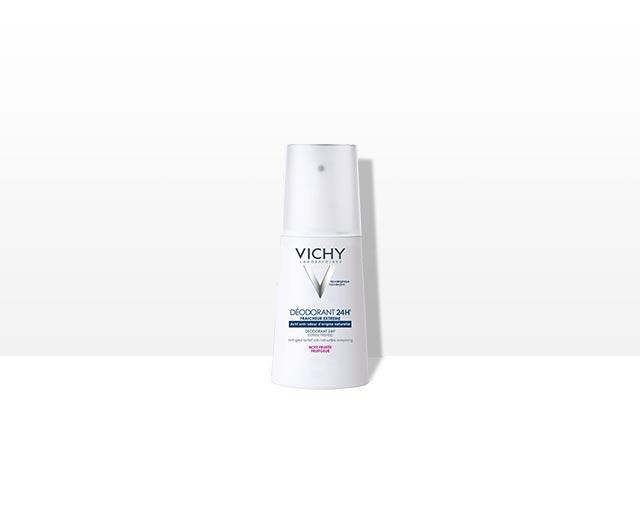 Desodorante ultra-frescor 24H con nota frutal. Spray